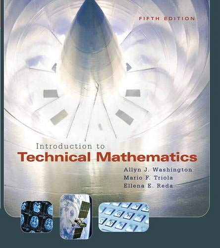9780321374172: Introduction to Technical Mathematics (5th Edition)