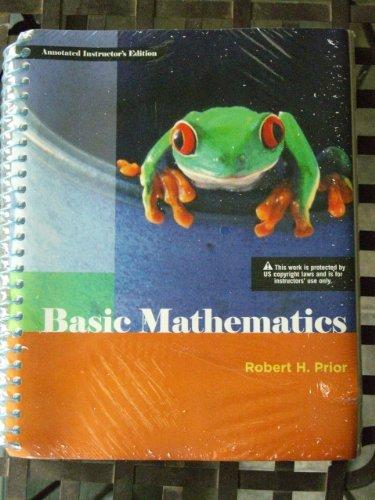 Basic Mathematics: Prior, Robert H.