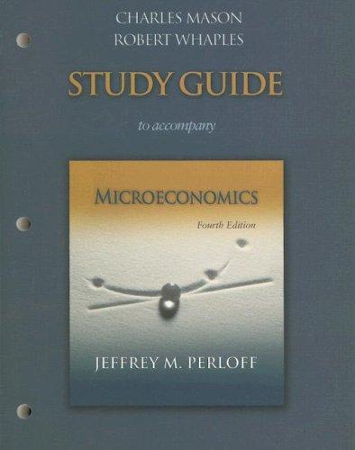 9780321374561: Study Guide to Accompany Microeconomics