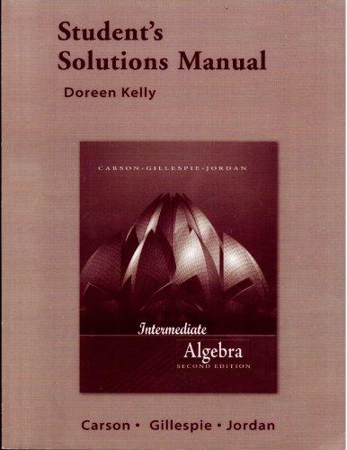 9780321375124: Student Solutions Manual for Intermediate Algebra