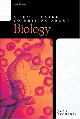 9780321385925: A Short Guide to Writing About Biology (Short Guides Series)