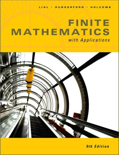 9780321386724: Finite Math with Applications (9th Edition)