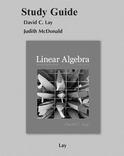 9780321388834: Student Study Guide for Linear Algebra and Its Applications