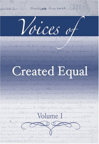 9780321395917: 1: Voices of Created Equal, Volume I
