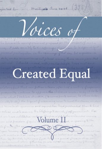 9780321395993: Voices of Created Equal, Volume II