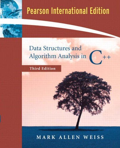 9780321397331: Data Structures and Algorithm Analysis in C++:International Edition