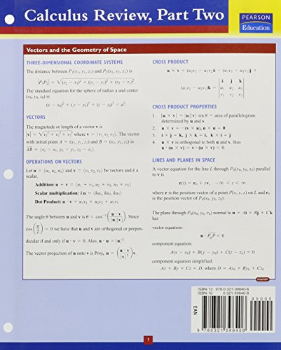 9780321398406: Addison-Wesley's Calculus Review, Part 2 (Pt. 2)