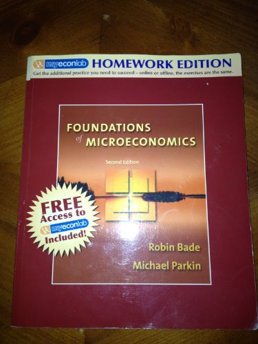 9780321399410: Foundations of Microeconomics: Homework Edition