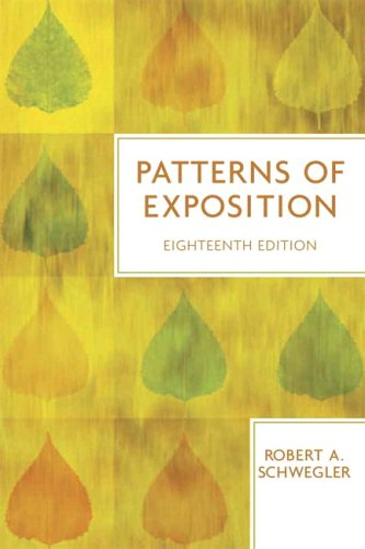 9780321409218: Patterns of Exposition (18th Edition)