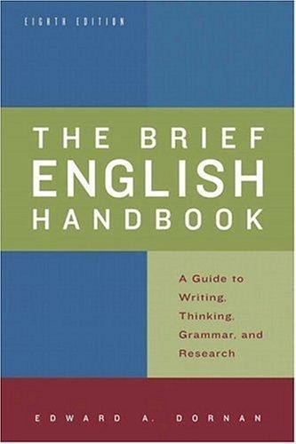 9780321409270: Brief English Handbook, The (8th Edition)