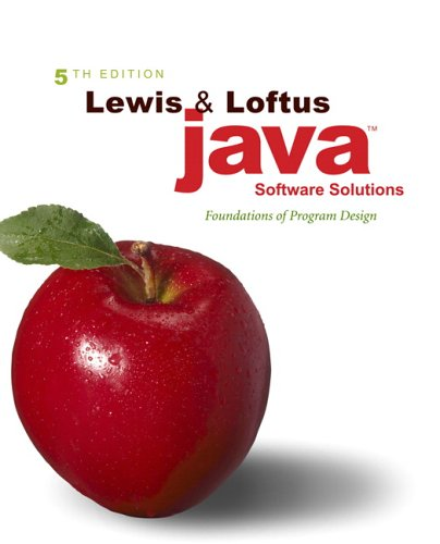 9780321409492: Java Software Solutions: Foundations of Program Design (5th Edition)