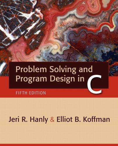9780321409911: Problem Solving and Program Design in C