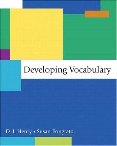 Developing Vocabulary: D.J. Henry, Susan