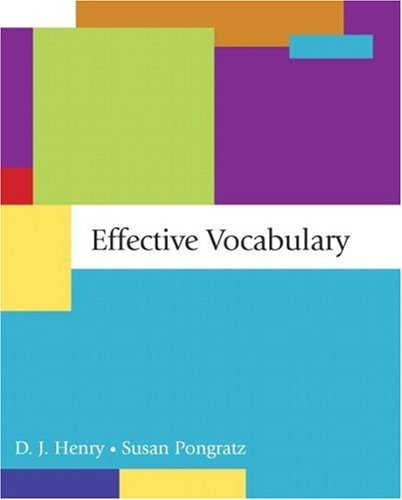 9780321410719: Effective Vocabulary
