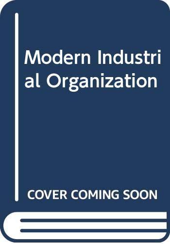 9780321410924: Modern Industrial Organization