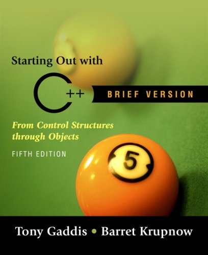 9780321412911: Starting out with C++ Brief (5th Edition)