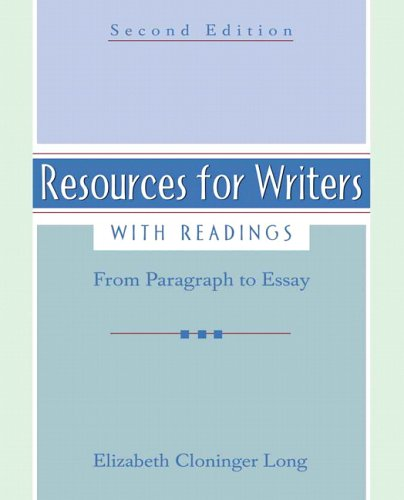 9780321414816: Resources for Writers, with Readings (2nd Edition)