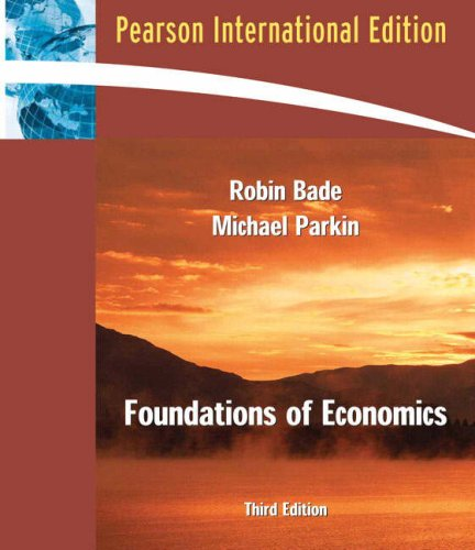 9780321416315: Foundations of Economics: International Edition