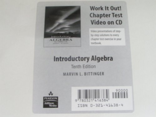 Introductory Algebra: Marvin L Bittinger