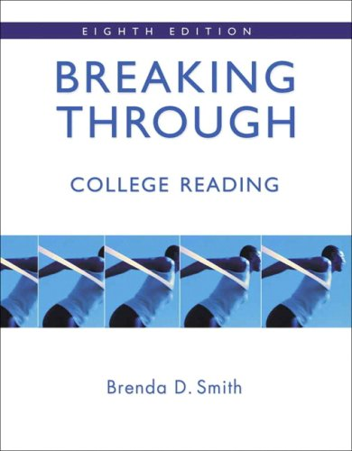 9780321417602: Breaking Through: College Reading (book alone) (8th Edition)