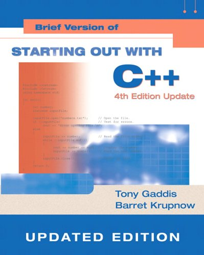 9780321419613: Starting Out with C++: Brief Version Update, Visual C++ .NET (4th Edition)