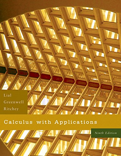 Calculus with Applications: Raymond N. Greenwell;