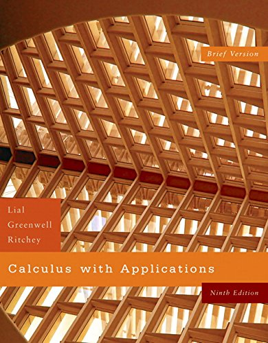 Calculus With Applications / Brief Version - Ninth edition & Student's Solution ...