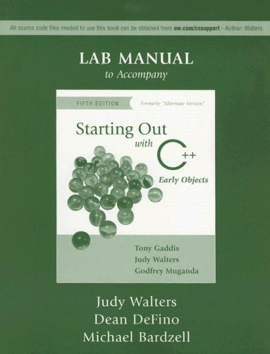 9780321424600: Starting Out with C++ Lab Manual: Early Objects