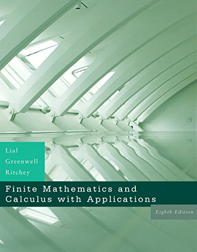 9780321426512: Finite Mathematics and Calculus with Applications (8th Edition)