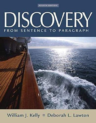 9780321427007: Discovery: From Sentence to Paragraph