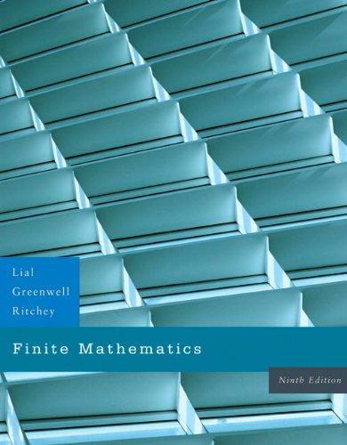 9780321428295: Finite Mathematics (9th Edition)
