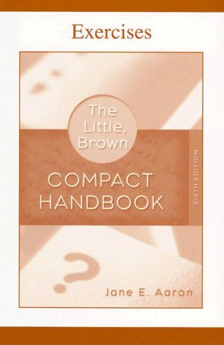 9780321428851: Exercise Book for The Little, Brown Compact Handbook