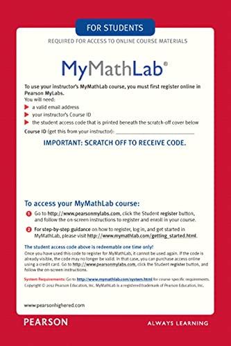 9780321431301: MyMathLab/MyStatLab