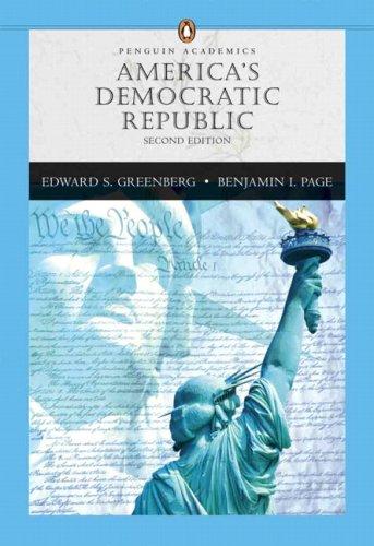9780321431332: America's Democratic Republic, Penguin Academics Series (2nd Edition)