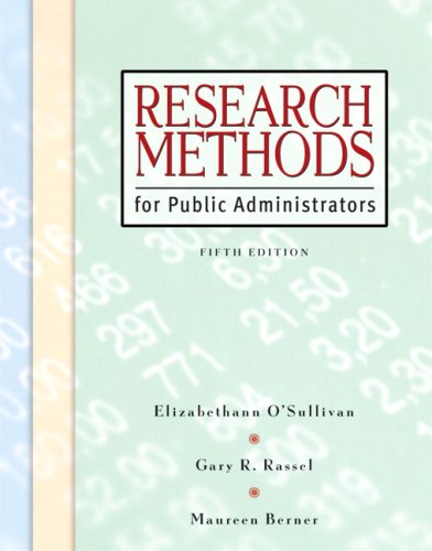 9780321431370: Research Methods for Public Administrators