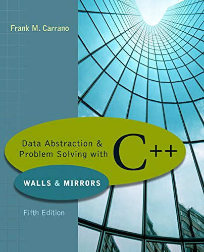 9780321433329: Data Abstraction & Problem Solving With C++: Walls & Mirrors