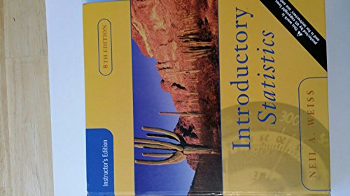 9780321434128: Introductory Statistics, 8th edition (Instuctor's Solutions Manual)