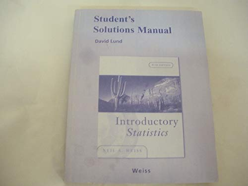 9780321434135: Student's Solutions Manual for Introductory Statistics, 8/E