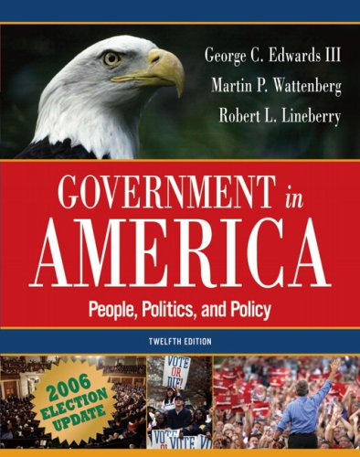 9780321434289: Government in America: People, Politics, and Policy, Election Update (12th Edition) (MyPoliSciLab Series)