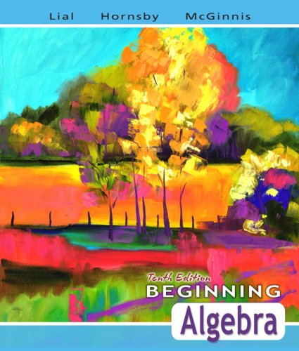 9780321437266: Beginning Algebra (Lial Developmental Mathematics Series)