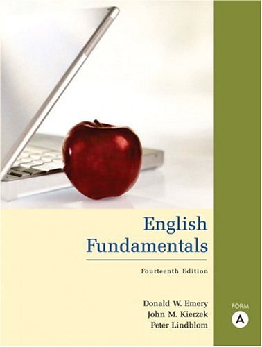 9780321437785: English Fundamentals, Form A (book alone) (14th Edition)