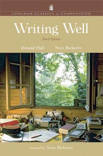 9780321439017: Writing Well, Longman Classics Edition (9th Edition)