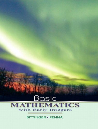 9780321440112: Basic Mathematics with Early Integers