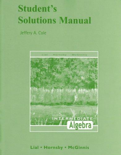 9780321441157: Student Solutions Manual for Intermediate Algebra