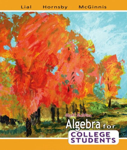 9780321442543: Algebra for College Students (6th Edition)