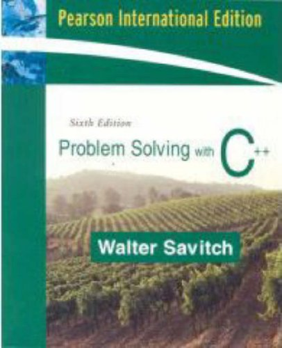 9780321442635: Problem Solving with C++: International Edition