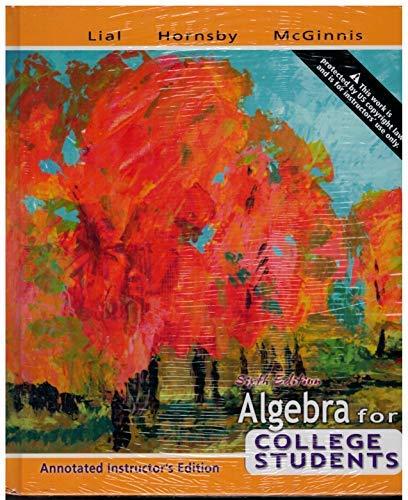 9780321444523: Algebra for College Students