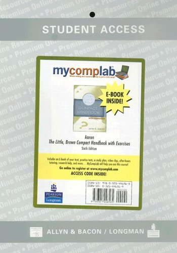 9780321446565: MyCompLab with Pearson eText Student Access Code Card (Standalone) (6th Edition)