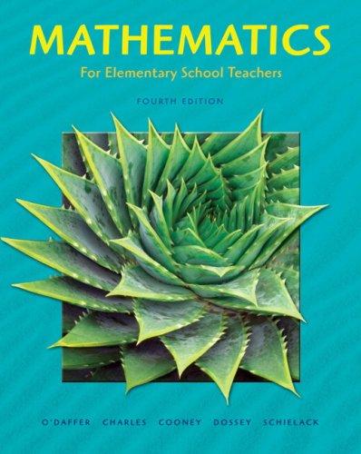 9780321448040: Mathematics for Elementary School Teachers (4th Edition)
