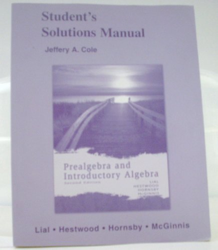 9780321448200: Student Solutions Manual for Prealgebra and Introductory Algebra